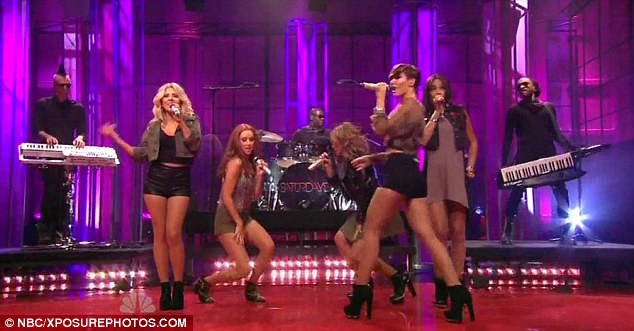 Hot pants: Frankie and Mollie opted to wear hot pants showing off their great legs