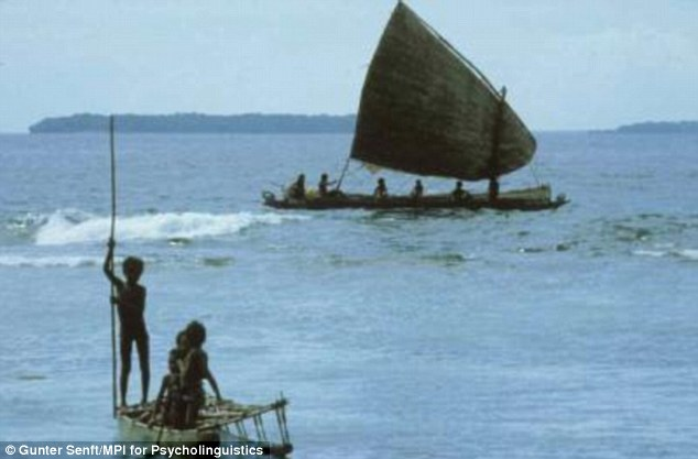 By the time the Indian settlers reached Australia the ancient land bridge was under water so they sailed.