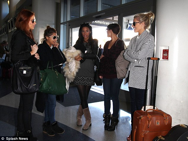 All of this travelling malarkey! The girls look world-weary as they continue to try and conquer America