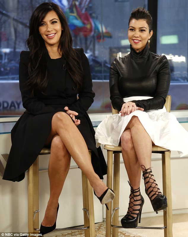 Sitting pretty: The reality stars were in a great mood as they got grilled for the show