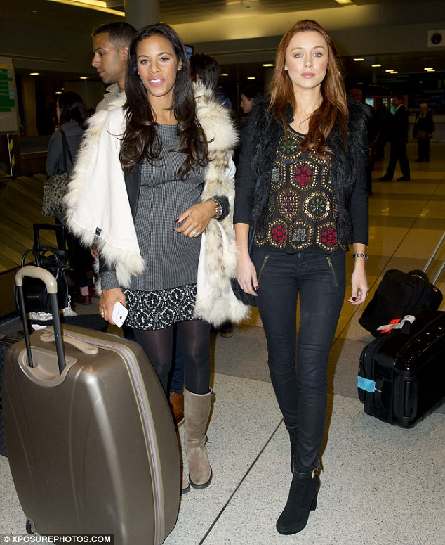 Whirlwind tour: The girls look fresh-faced despite the fact that they're on a hectic schedule