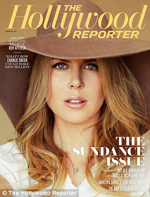 Cover girl: The actress graces the cover of the special Sundance Issue of The Hollywood Reporter