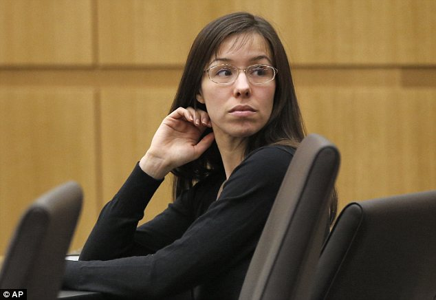 On trial: Jodi Arias is charged with murder in the June 2008 death of her on-again-off-again boyfriend Travis Alexander