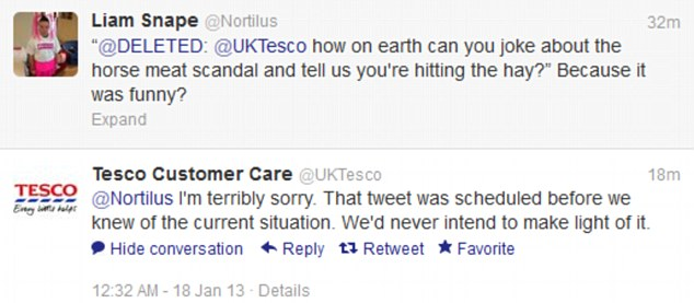 Apology: The team was quick to apologise, copying and pasting the same apology to every customer who complained