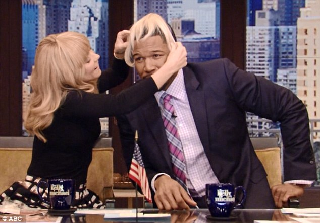 Positive reactions: So far fans have encouraged her to get the chop; one Twitter user wrote: '@KellyandMichael I love the bangs!!! Such a great look on Kelli!!!!!!! #getitgirl'