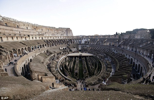 The traces confirmed that while the Colosseum today is a fairly monochrome colour, it used to have halls decked in colour