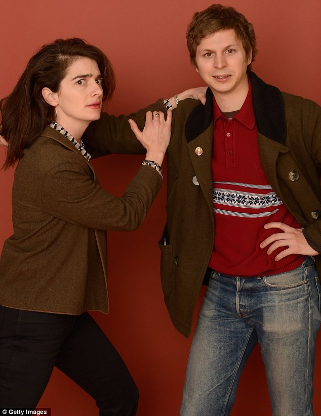 Goofing around: Crystal Fairy co-stars Gaby Hoffmann and Michael Cera had a bit of fun with their photo op