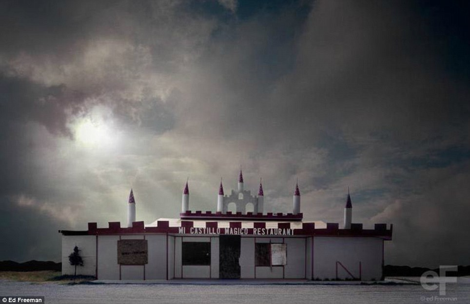 Магическая трансформация: художник манипулировать фотографиями распадающихся зданий облагородить, то и сделает их еще раз оценили