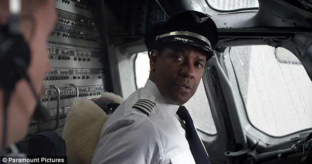 Big boy: Denzel looks visibly out of shape as his role as a pilot in new movie Flight