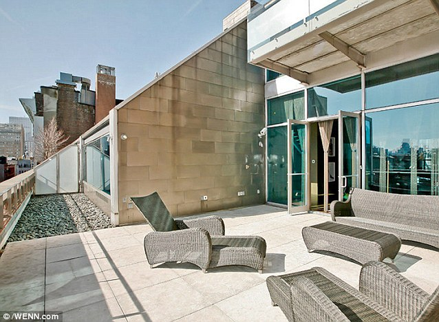 Great views: Flights of stairs inside the pad lead to a gorgeous patio area