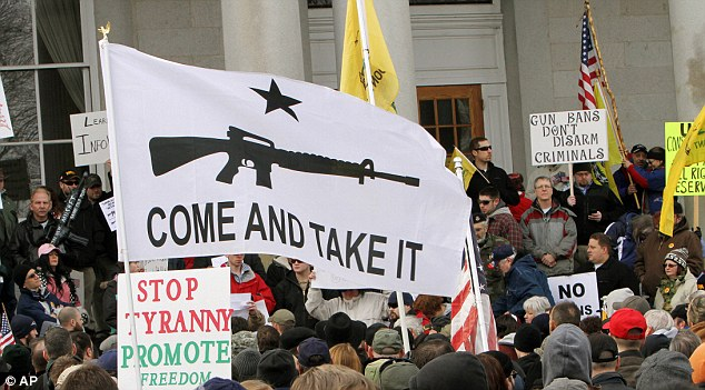 New Hampshire: Similarly hundreds of gun supporters rallied at the Statehouse in Concord