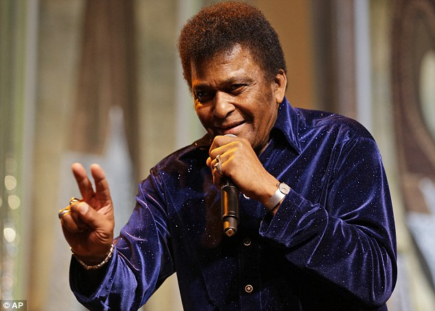 Music legend: Singer Charley Pride sings during the Black Tie & Boots ball