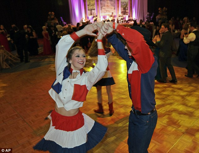 Hoedown: The Lake Highland Rangers from Dallas dance perform at the event organized by the Texas State Society