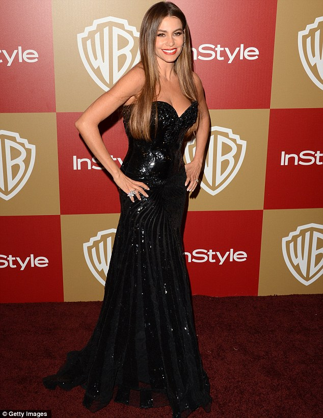 Award winning looks: While the juicy Latina did not win her Golden Globe she came out on top in the style stakes