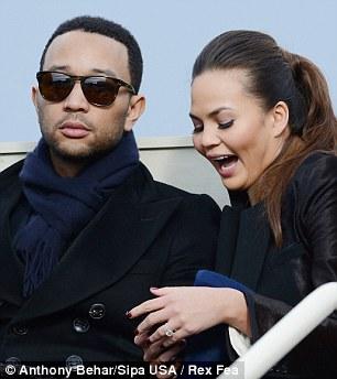 High note: John Legend took his girlfriend Chrissy Teigen