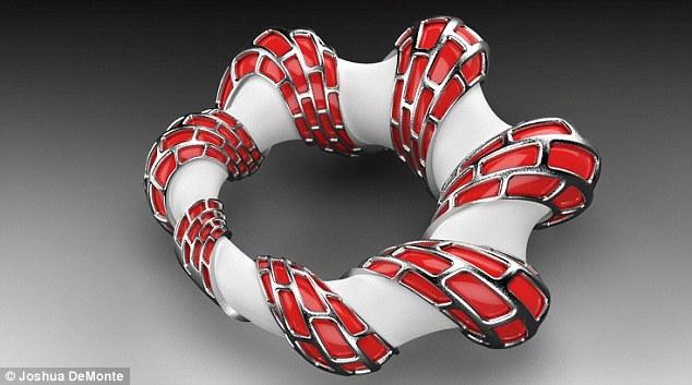 Building blocks: This bracelet features colorful red brickwork