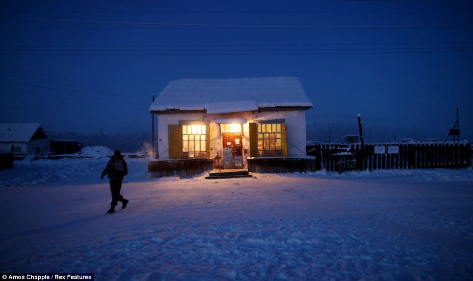 Comércio lugar mais frio do mundo