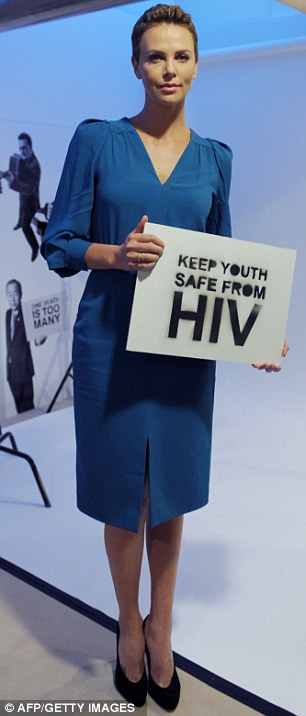 South African Movie star and HIV/AIDS campaigner Charlize Theron