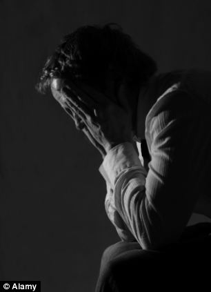 On the rise: The suicide rate among men is at its highest for a decade according to figures from the Office for National Statistics with the sharpest increase among men aged between 45 and 59