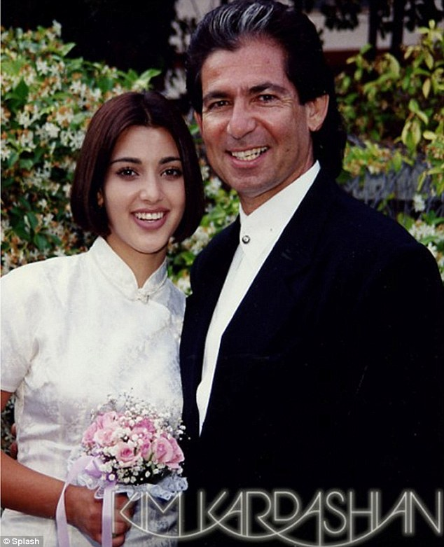 Close: Kim with her father, who famously represented OJ Simpson