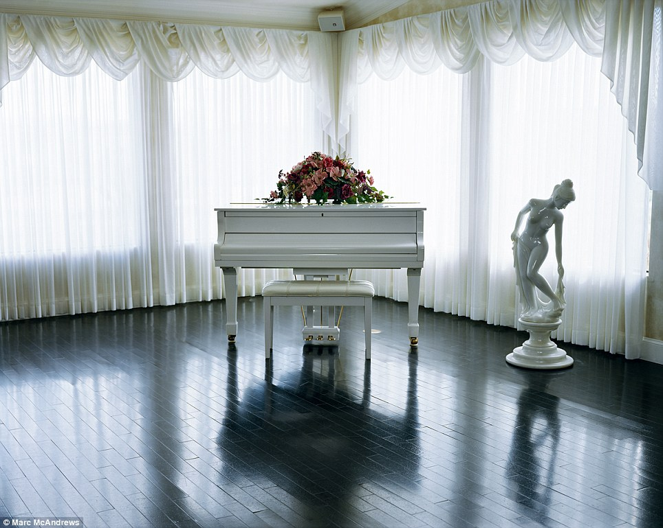 Just for show: The owners of Sheri's Ranch in Pahrump were perhaps hoping to add a touch of class by placing a piano in the parlor of their brothel
