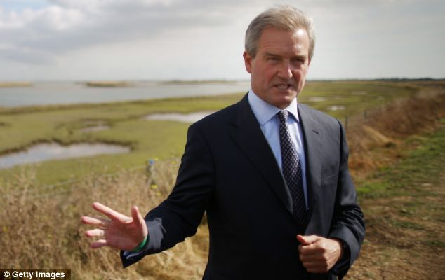 Environment Secretary Owen Paterson insisted he would not be diverted from the policy of culling badgers by threats against his life