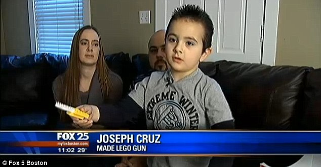 Joseph Cardosa, 5, was told he would be suspended for two weeks if he makes a gun at his after school program again