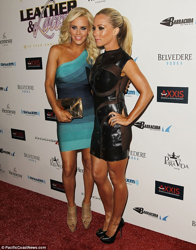 Dressed to impress: Jenny McCarthy also joined Kendra at the bash