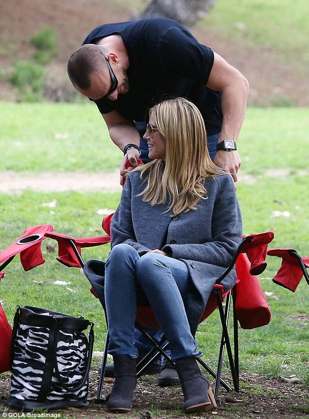 Flirt alert: Heidi enjoyed being the center of Martin's attention too