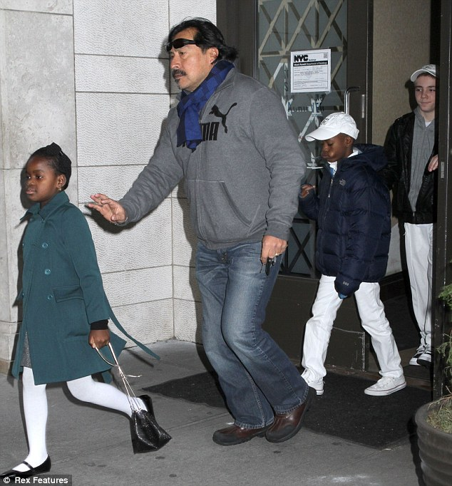 Family time: Madonna's children Mercy, David and Rocco all attend the family day out