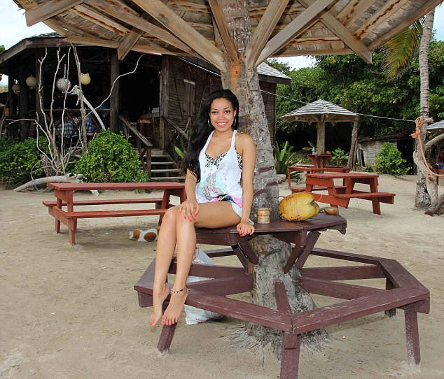 Preserving her legacy: Dionne Bromfield has travelled to St Lucia to remember her late godmother Amy Winehouse, who regularly visited the island