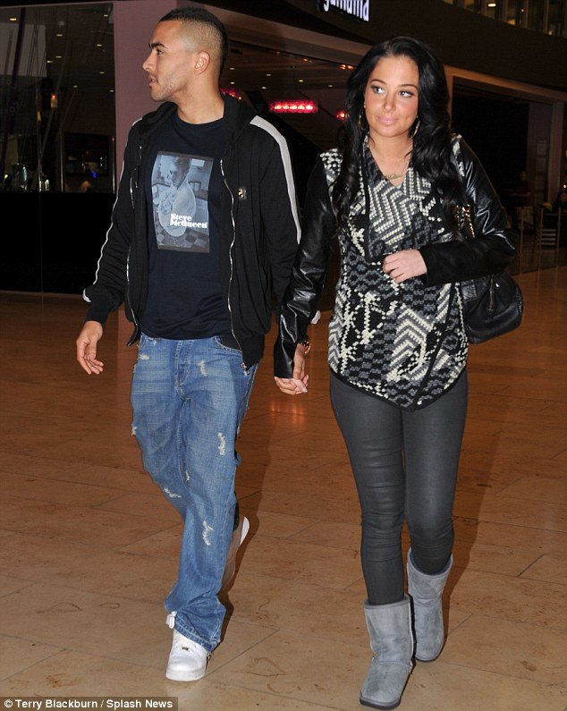 Concerned: Tulisa is said to have been 'shocked and upset' when she heard what had happened to her footballer beau