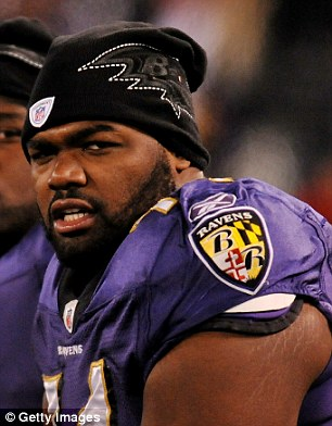 The real deal: Michael Oher plays for the Baltimore Ravens, who won the 2013 Super Bowl
