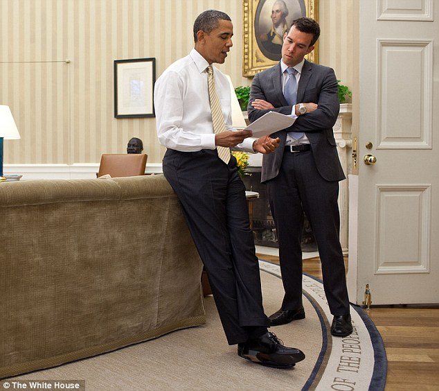 President Obama's chief speechwriter and 'mind reader' Jon Favreau (right) will be departing the White House at the end of this month after eight years of working for the president