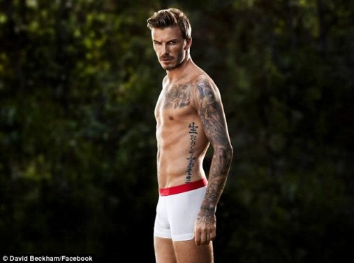 Tight and white: The professional footballer looked in great shape as he showed off his impressive body