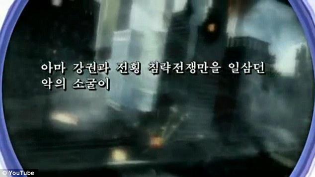 Provocador: Corea del Norte ha publicado un video en YouTube que muestra un ataque simulado en los EE.UU., que incluye la escena de una ciudad parecida a Nueva York en llamas y en ruinas