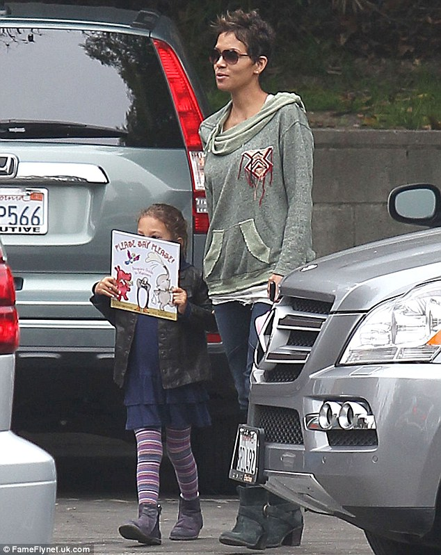 Time for class! On Tuesday, the stylish X-Men star was spotted dropping Nahla, who displayed her favourite book, off to school in Studio City
