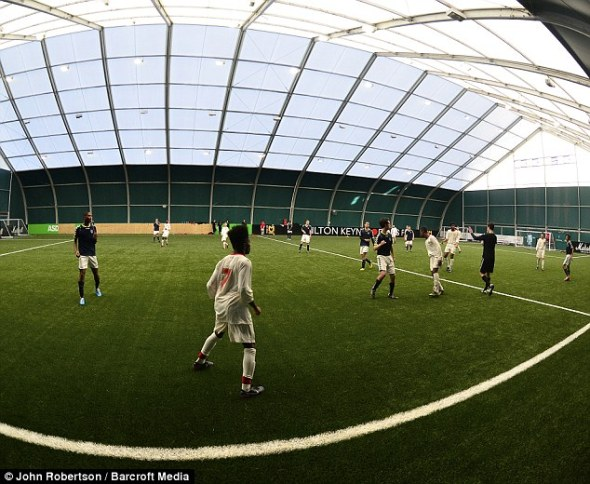 Quick thinking: Micciche advocates playing on pitches of different sizes to help youngsters develop