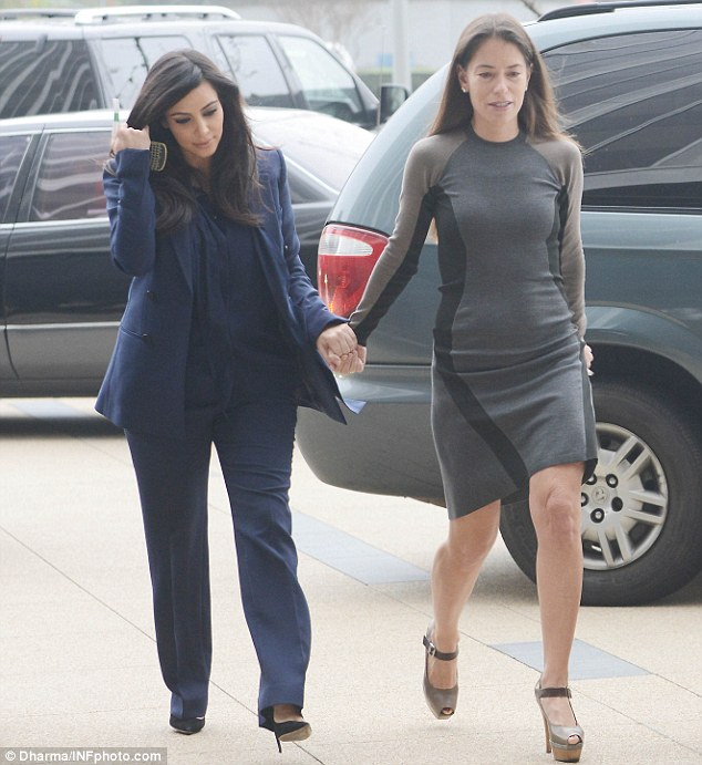Hoping for a resolution: Kim and lawyer Laura Wasser hold another meeting in Los Angeles on Tuesday