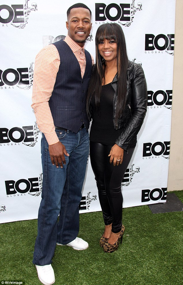 Happy couple: Flex Alexander and his wife Shanice Wilson also attended attended