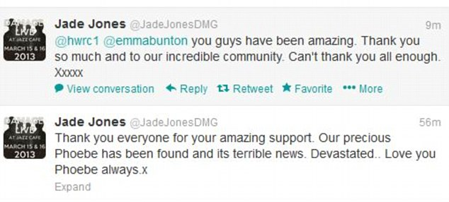 Emotional: Jade Jones also took to Twitter to express his sadness at losing the family dog