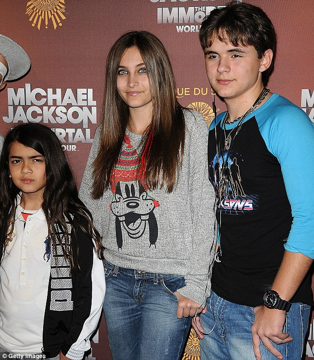 Under guardianship: Blanket, Paris and Prince Jackson are under the joint care of their cousin TJ and grandmother Katherine Jackson