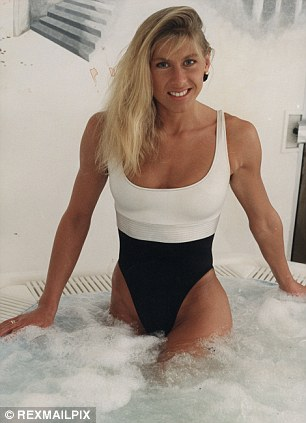 Age is just a number: Sharron still looks as good in a swimsuit at 50, left, as she did in her youth
