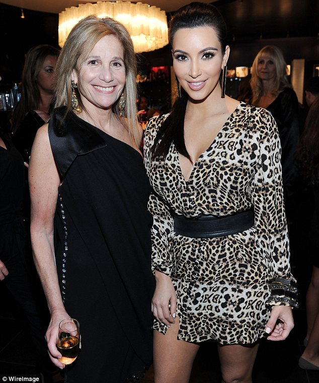 Spreading the word: As Cici is of Armenian descent she needs an Armenian donor. Here Cici is seen with Kim in December 2011