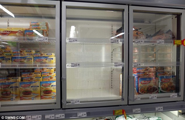 Empty shelves: Asda is just one of several supermarkets to remove products from their stores because they have been contaminated with horsemeat