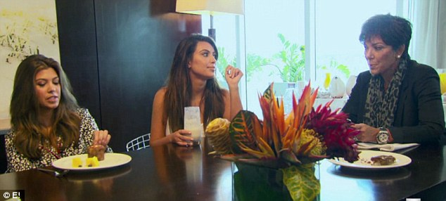 Growing apart: Kourtney has never allowed her partner Scott Disick to come before family, and is upset about Kim's attitude