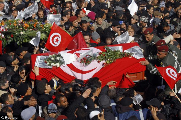 Crisis: The death of secular opposition leader Chokri Belaid has plunged Tunisia deeper into political crisis