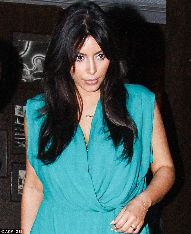 Why so blue? The reality star hardly cracked a smile as she made her way to the eatery