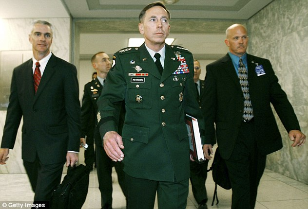 Betrayed: Petraeus worked hard to keep his affair with Broadwell secret, but his personal security officers knew the truth