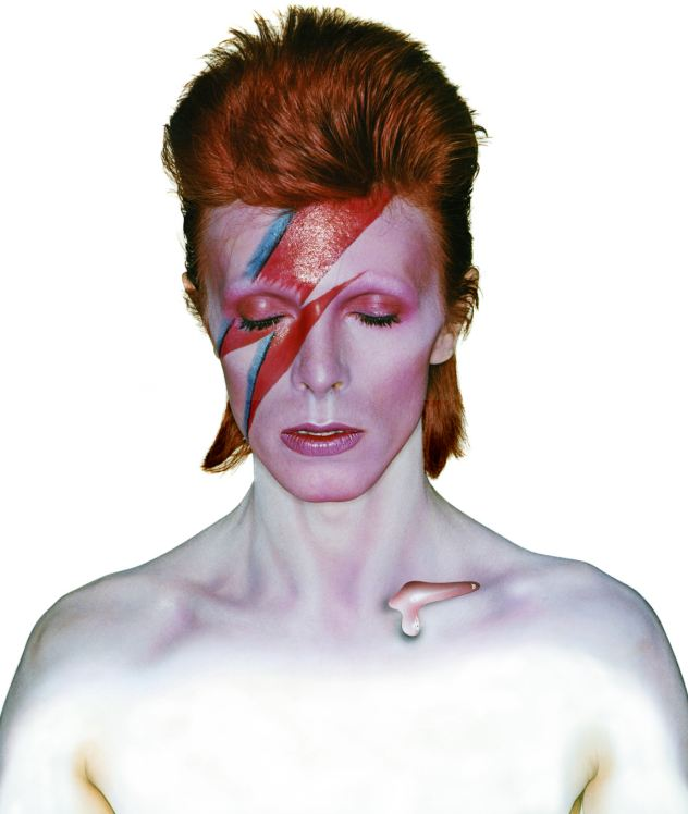 Creative: Angie and David's stormy life together informed many of his characters such as Aladdin Sane